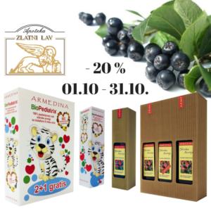 Sibirska aronija – 20%